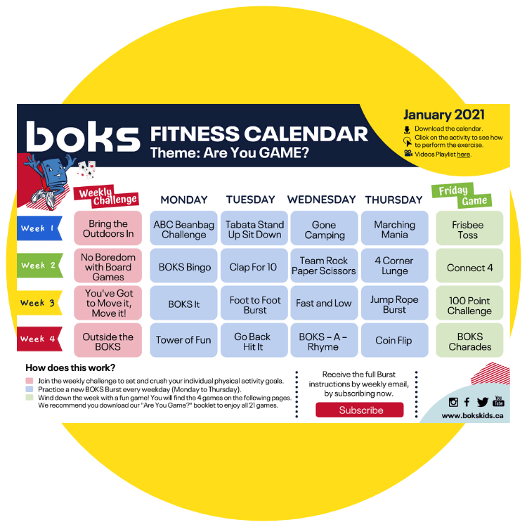 Monthly Fitness Calendars